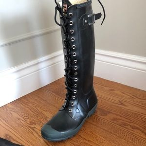 Hunter tall lace up boot